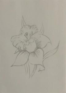 Quick Flower Sketch